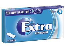 WRIGLEY'S EXTRA PEPPERMINT ORBIT COMPLETE CHEWING GUM 12 PACK OF 14pcs NEW