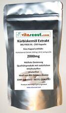 250 Kapseln Kürbiskernöl Extrakt 2000 - HOCHDOSIERT! Pumpkin Seed - PN: 010242
