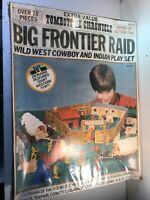 Vtg Hg Toys Big Frontier Raid NIB Rare! Cowboys & Indian Playset No 872. A6