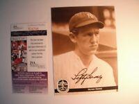 Lefty Gomez autograph Baseball Americana Conlon Collection New York Yankees