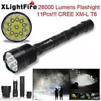 Power 32000LM 24x XML T6 LED Flashlight 5 Modes Torch Hunting Camping Lamp Light