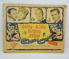 Vtg 1960 THE CAN-CAN Frank Sinatra Shirley MacLaine Original Title Lobby Card