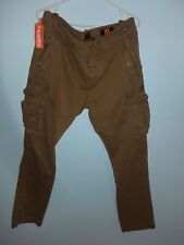 NEW SUPERDRY CORE HEAVY CARGO PANTS-SIZE XL/CITY TABAC COLOR-
