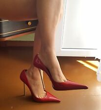 GIANMARCO LORENZI Red Patent Leather Steel Heels gr. EUR 38