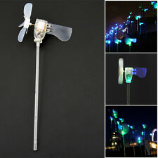 Vertical DIY Project Turbines LED Windmill Small DC Motor Wind Blades Generator