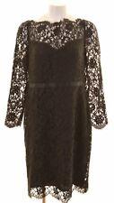 JAEGER Womens Lace Dress Size 18 XL Black  NB30