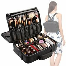 Oxford Leather Makeup Bag Travel Cosmetic Case Carry On Backpack Stylish New