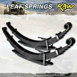 Pair Rear RAW 4x4 40mm Lift Leaf Springs for Holden Colorado RC Rodeo RA