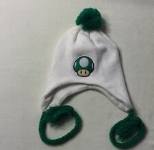 NEW MARIO BROTHERS 1 UP GREEN MUSHROOM BEANIE HAT KAWAII FUNKY CUTE WINTER