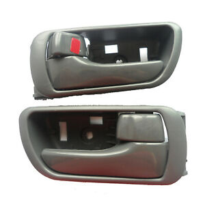 Fit 2002-2006 Toyota Camry Inside Interior Left Right Side Door Handle Gray 2Pcs