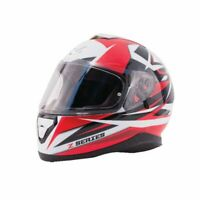 Zox Motorcycle Helmet Full Face Dual Visor (Free Pinlock) Red Black DOT ECE