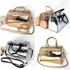 Michael Kors Women Kara Duffle Satchel Bag Pale Rose Gold / Silver 35H9GKKU3Z