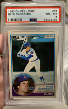 1983 OPC O-PEE-CHEE Ryne Sandberg #83 RC ROOKIE CARD PSA 8 NM MINT CUBS HOF SP