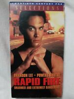 Rapid Fire (VHS 1993 Fox) Brandon Lee~Powers Boothe~(HTF) The Crow Martial Arts
