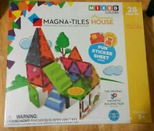 Brand New Magna-Tiles House 28-Piece Mixed Colors House Set Sealed in Plastic.