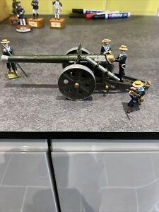 Britains 4.7 inch naval gun With Steadfast Gun Crew In Sennet Hats