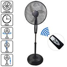 "16"" Pedestal Oscillating Pedestal Fan Tower DynaSun RD40BC Black Remote Control"