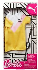 Barbie Puma Yellow and Pink Tennis Dress Fashion Pack ~IN STOCK NOW~
