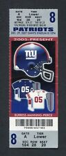 New England Patriots Giants 16-0 Perfect Regular Season game ticket Brady 2007 e