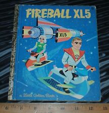 Vintage 1964 Little Golden Book Fireball XL5 Steve Zodiac World Space Patrol