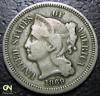 1869 3 Cent Nickel Piece  --  MAKE US AN OFFER!  #R2049