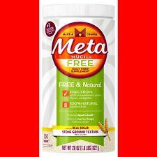 Metamucil Free Fiber Supplement 100% Natural Psyllium Powder 29oz Sweet Exp12/19