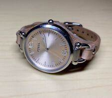 Women's Ladies FOSSIL Water Resistant Leather Band Watch ES-2830 Fresh Battery