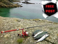 2.1 Metre Travel Telescopic Rod & Reel,Line / Sea,River / Great Fathers Day Gift