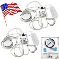 2 Set 4Hole Dental Portable Turbine Delivery Unit Work with Air Compressor USPS!