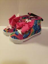 JoJo Siwa  Bow Tie Dye Shoes Pink  Hi-Top Sneakers Girls 11