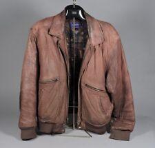 Vintage Gant Leather Bomber Jacket - Brown - Size 42r