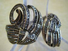 "HEIDI DAUS' First ""Geometric Swirl"" Size M/L Bangle Bracelet (Orig. $249.95)"