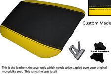Amarillo Y Negro Custom encaja Cagiva Mito 125 95-07 Trasera de piel cubierta de asiento