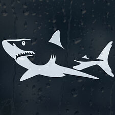 White Shark Car Or Laptop Decal Vinyl Sticker Colour Choice For Window Bumper