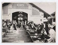 PHOTO ANCIENNE NADAL Saïgon Marché Viêt Nam Vietnam Vers 1930 Cho My-Long