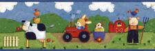 Children's Bedroom Nursery Wallpaper Border Farm Yard Design Cow Tractor Chicken