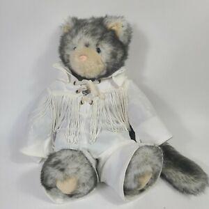 """Elvis Presley Friend for Life Vermont Teddy Bear Gray Cat Kitten Plush 13"""""""