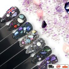 7pcs Diy Nail Art Fairy Beads Rhinestone Sea Beach Irregular Mineral 3D Nail Dec
