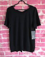 90 Degree By Reflex Women's Black Crisscross Back Shirt Women's Size XL