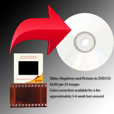 Scan Your Slides, Negatives or Photos to CD or DVD (Great Family Gifts!)