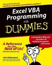 Excel VBA Programming For Dummies by Walkenbach, John, Good Book