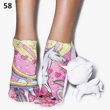 Cute 3d Animal Printed Unisex Socks Bacon Meat Burger Men Women Multi Size GY Style 9-1 Pair