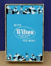 Vtg With Wilson Underwear You Win Sporting Goods Advertising Playing Card deck