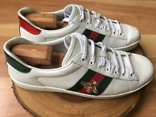 Gucci Men's Ace Bee White Leather Sneaker, Size 10 G, US 11 **