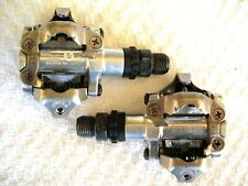 "*Pair Of Shimano Pd M520 9/16"" Spd Mountain Bike Clipless Pedals, As New*"