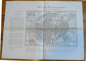 PLAN DE PARIS 1530 DIT AUX TROIS  PERSONNAGES G.BRAUN .A.TARIDE(FAC SIMILE)