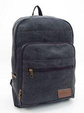 Unisex Charcoal Black Canvas Back Pack Bag Metro Range from Luggage Locker 8459