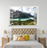 3D River Hills Sky 214 Open Windows WallPaper Murals Wall Print AJ Carly