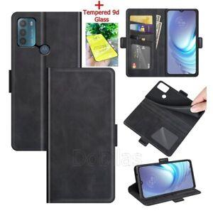 Flip Leather Phone Case for Motorola E7i G8 G9 G10 G30 G50 Magnetic Wallet Cover