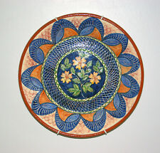 """BEAUTIFUL HANDMADE IN PORTUGAL16½"""" POTTERY DISPLAY DISH/PLATE COLLECT ONLY ESSEX"""